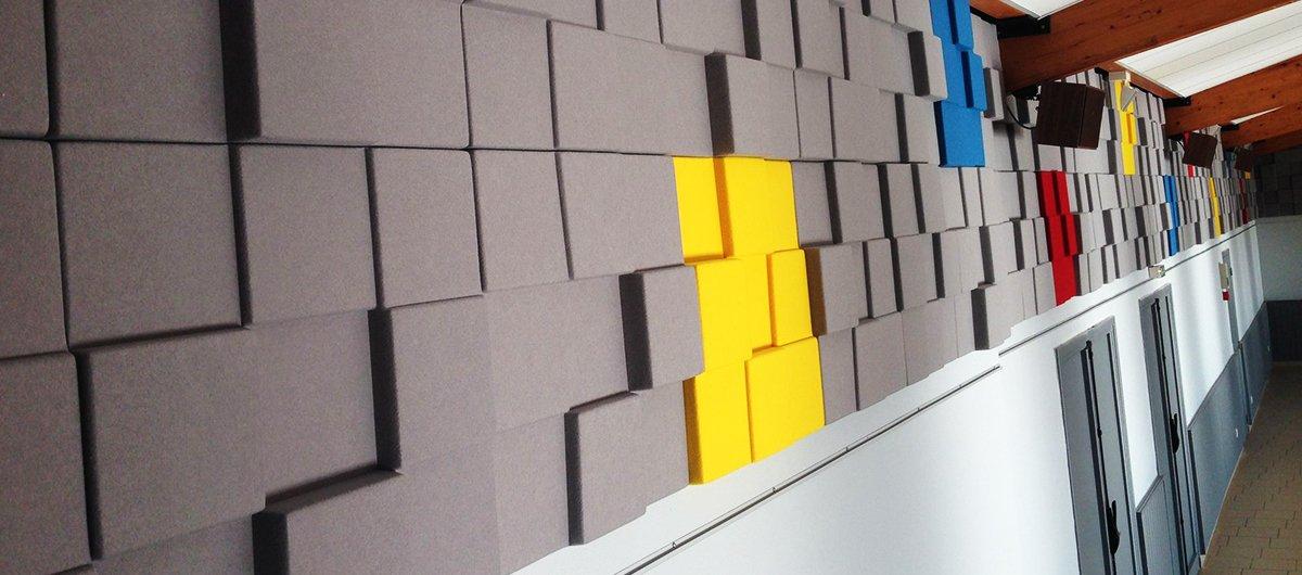 3d acoustic fabric coating wall panels