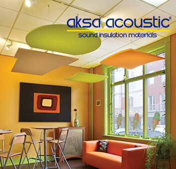 Ceiling acoustical insulation