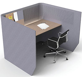 Acoustic Work Table Cabinet