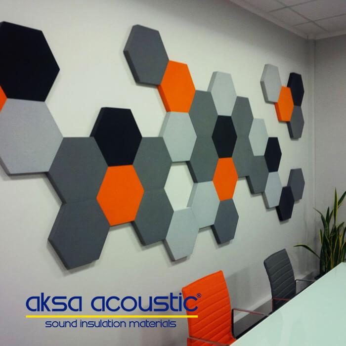 Acoustic Fabric Coated Hexagonal Panel