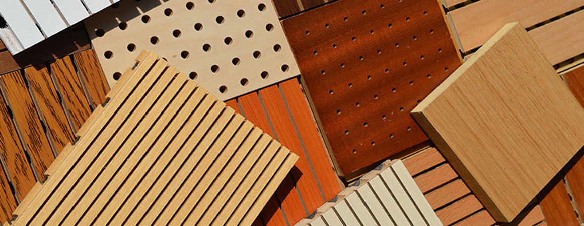 perforated slotted grooved-wooden acoustic panels