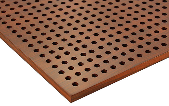 perforated wooden acoustic panels